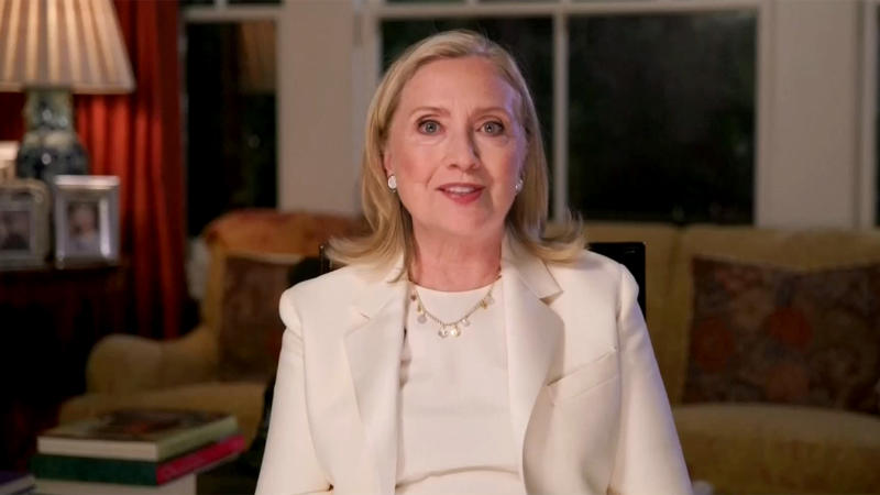 Hillary Clinton speaks during the virtual Democratic National Convention on Aug. 19, 2020. (via Reuters TV)