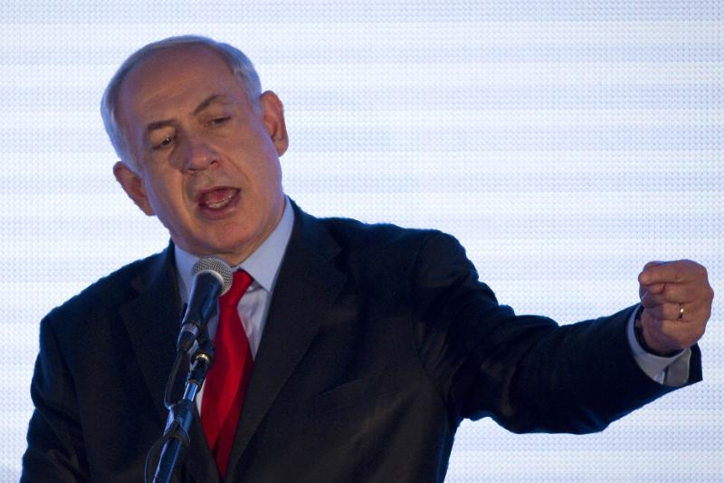 Israel's Prime Minister Benjamin Netanyahu speaks at the sixth Negev Conference in the southern town of Sderot March 18, 2014. REUTERS/Amir Cohen (ISRAEL - Tags: POLITICS PROFILE BUSINESS)