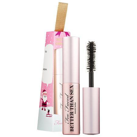 <p>The only thing better than a brand new mascara is a deluxe mascara in a fancy holiday ornament called Better Than Sex. While it may not be guaranteed to actually be better than sex, it <i>is</i> guaranteed to be cruelty free, vegan, gluten-free and contains no parabens or sulfates. The brush has an hourglass-shape that adds volume and lift for a smudge-proof extreme eyelash curl. The Too Faced brand is known to have a fun and joyful approach to their beauty products. So hang this limited edition ornament on your tree and when it's time to use it, you be the judge to see if it lives up to the name. </p>