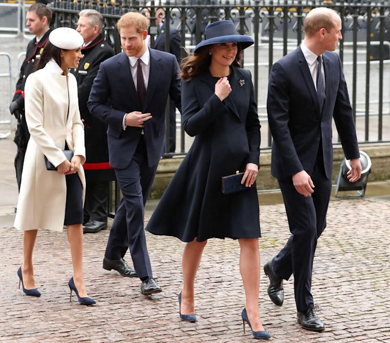 Meghan and Harry were joined by Prince William and Kate Middleton. Photo: Getty Images