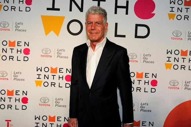Anthony Bourdain at the 2018 Women in the World summit in New York City. (Photo: Paul Bruinooge/Patrick McMullan via Getty Images)