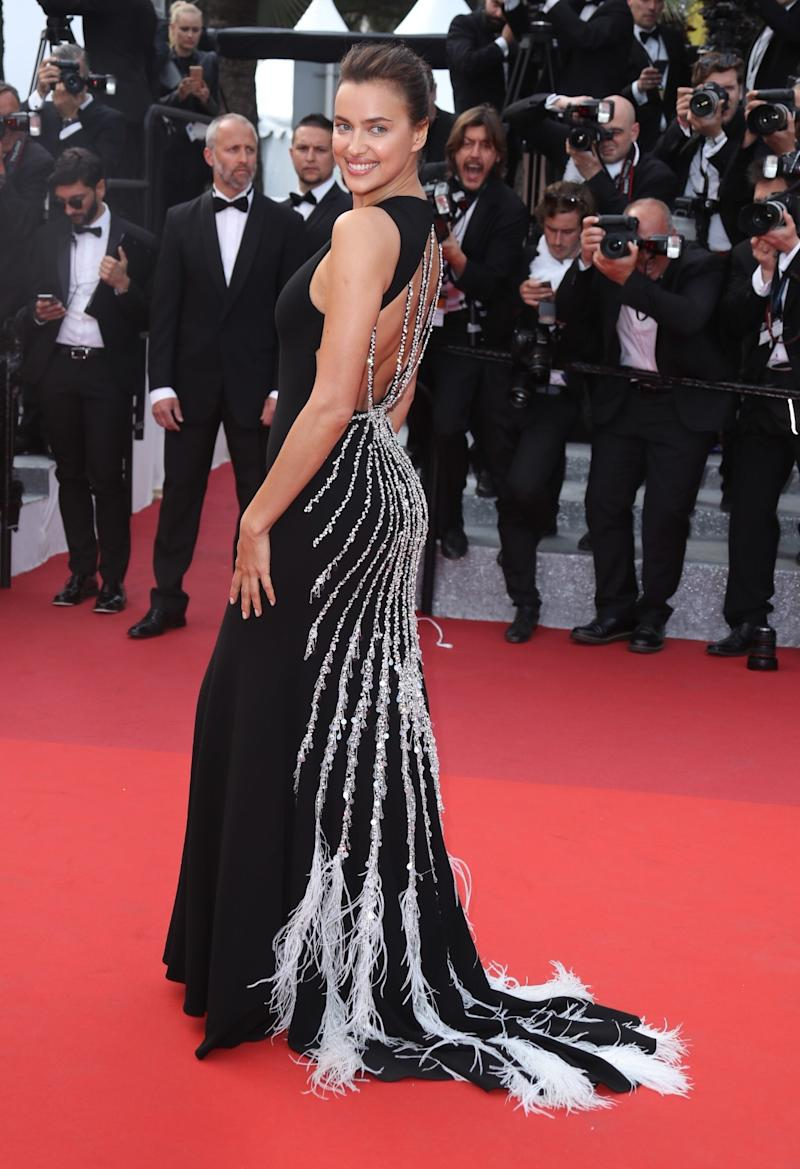 At the 2016 Cannes Film Festival, Shaykk stunned in a black gown with white feather embellishments.