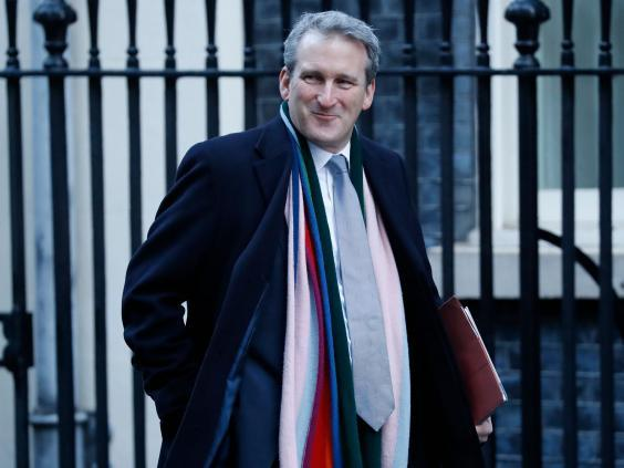 Damian Hinds at Downing Street earlier this year (AFP/Getty)