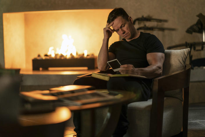 """This image released by Paramount Plus shows Mark Wahlberg in a scene from """"Infinite."""" (Peter Mountain/Paramount+ via AP)"""