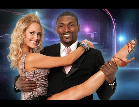 """Ron Artest, NBA champion, partners with last season's Troupe member Peta Murgatroyd, who makes her """"Dancing with the Stars"""" debut as a professional partner this season"""