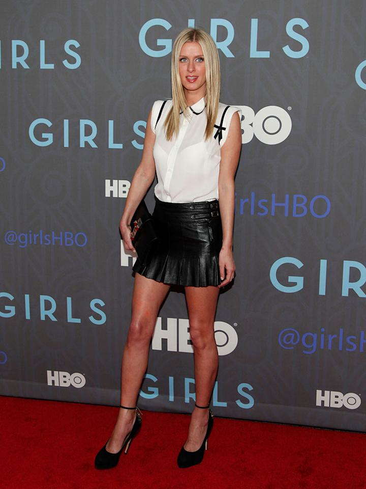 """Nicky Hilton attends HBO's premiere of """"Girls"""" Season 2 at the NYU Skirball Center on January 9, 2013 in New York City."""