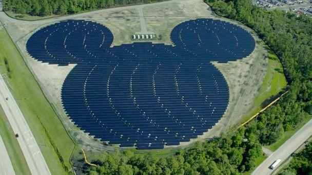 PHOTO: Disney unveiled its Mickey Mouse-shaped solar facility in 2016. (Walt Disney World)