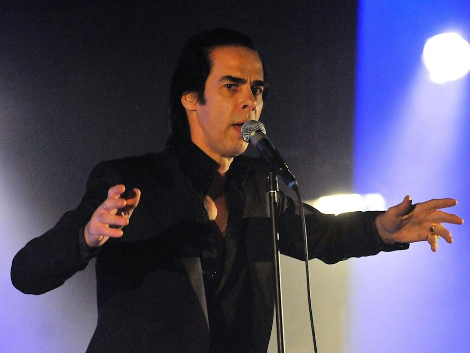 Cadaverous: Nick Cave knows how to exploit his physique as well as any dancerJm Dyson/Getty Images