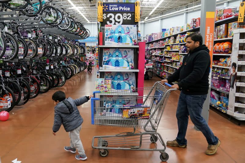 FILE PHOTO: People Shop in Walmart in King of Prussia Pennsylvania on Black Friday