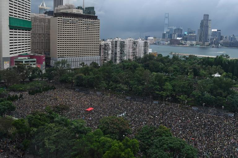Organisers say 1.7 million people turned out for Sunday's rally, in what was seen as a rebuke to claims that the pro-democracy movement has been hijacked by violent thugs (AFP Photo/Manan VATSYAYANA)