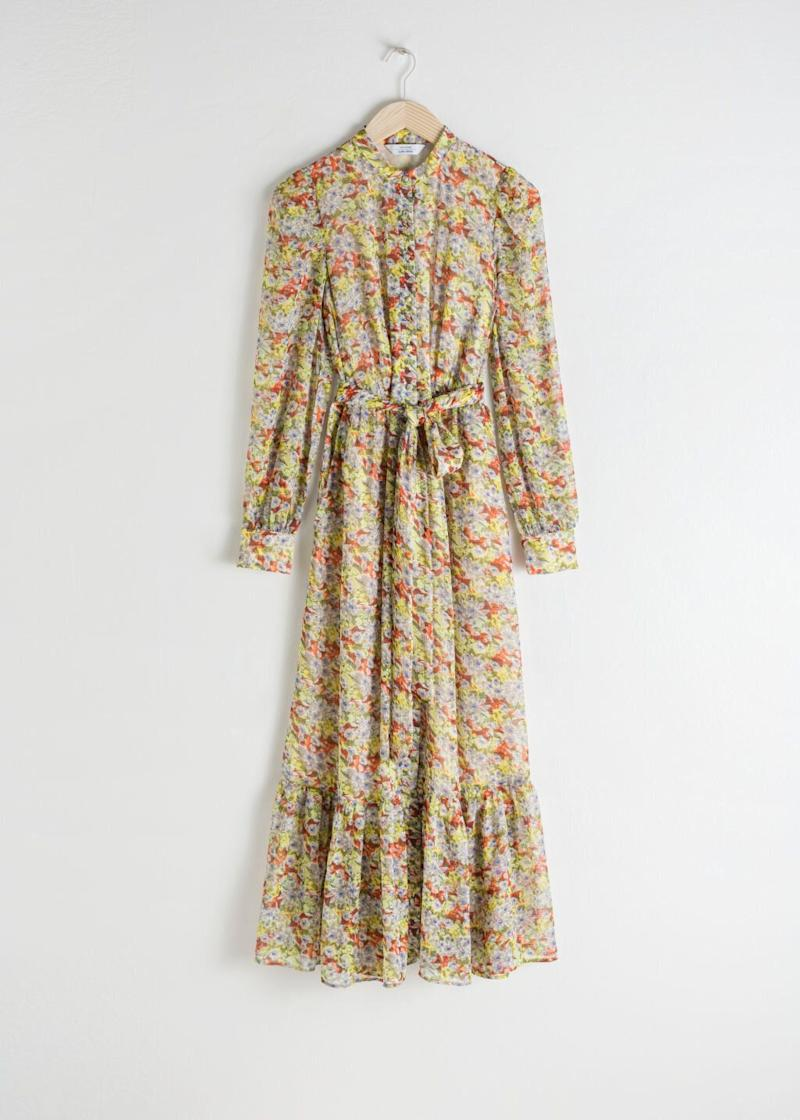 The £79 dress from & Other Stories that the Duchess of Cambridge wore in her Chelsea Flower Show garden photos [Photo: & Other Stories]