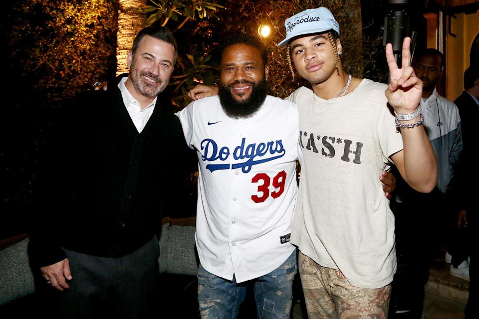 <p>Jimmy Kimmel, Anthony Anderson and 24kGoldn attend Wheelhouse and Rally's celebrity and content-creator private fundraiser event on Oct. 13 in L.A.</p>