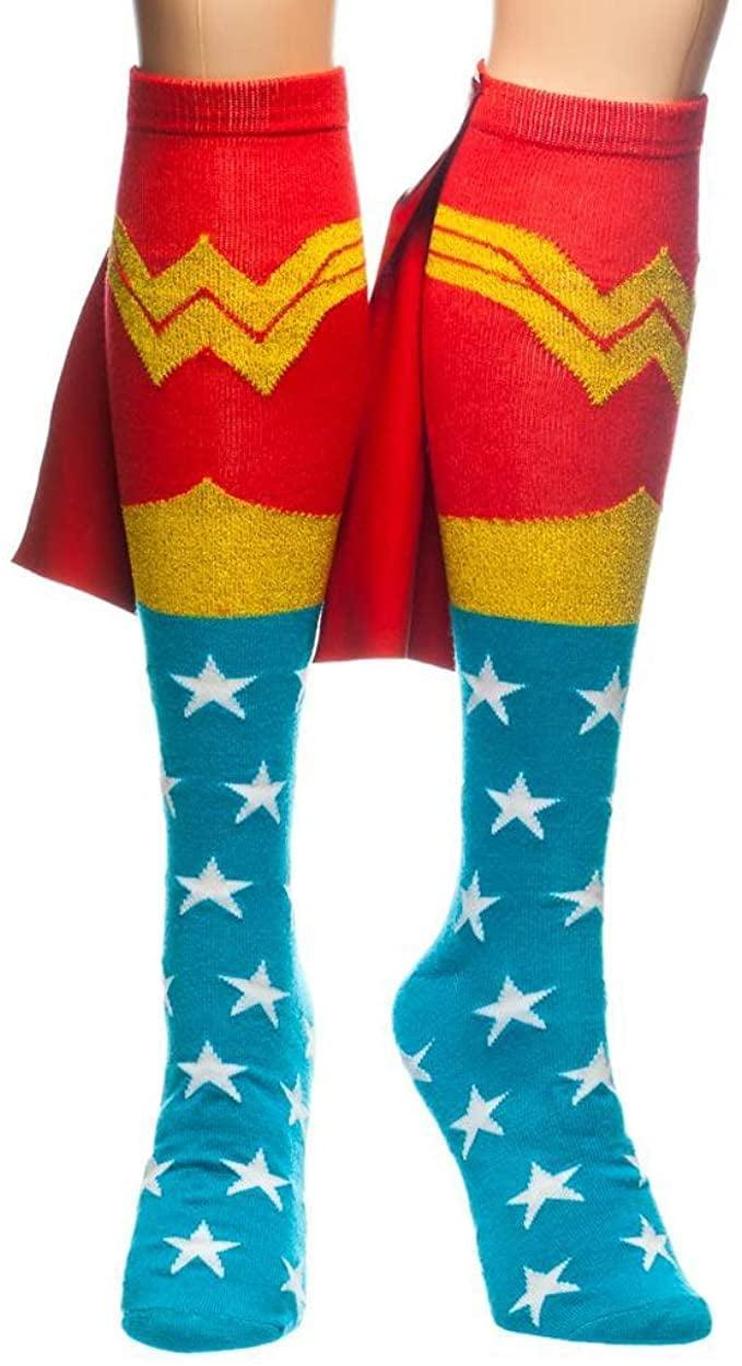 <p>These <span>Wonder Woman Knee High Cape Socks</span> ($14) have a cape. Enough said.</p>