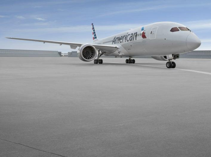 Transatlantic jet: Boeing 787 as used by American Airlines for the Chicago-London Heathrow flight (American Airlines)