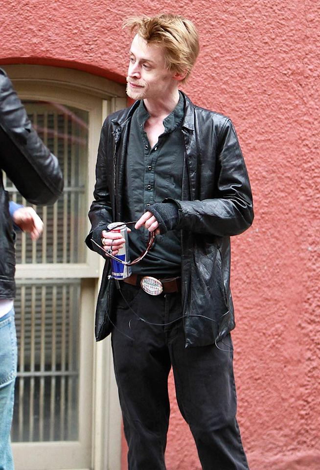 """Fans and the world alike were shocked when this photo of a gaunt and frail Macaulay in New York City came out February of this year. After a <em>National Enquirer</em> report stated that the actor was battling a heroin addiction, his estranged father spoke out about his concern for his son's life. """"I hope that he has the right people looking after him,"""" said Kit."""