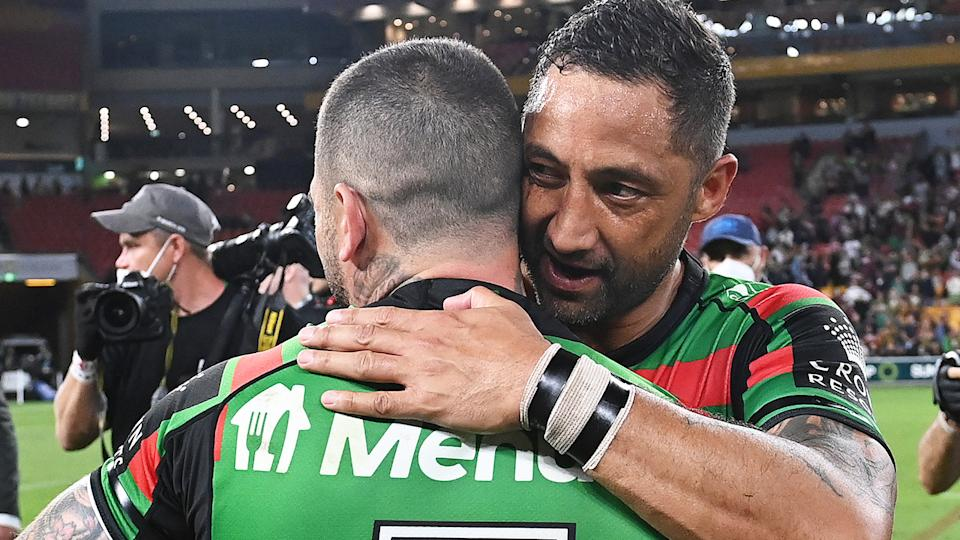NRL veteran Benji Marshall is likely to retire after next week's grand final, after joining South Sydney on a one-year deal at the beginning of the year. (Photo by Bradley Kanaris/Getty Images)