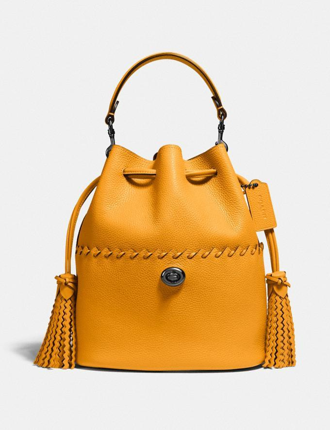 Lora Bucket Bag With Whipstitch Detail. Image via Coach.
