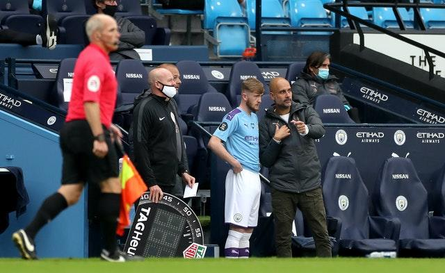 Guardiola will only be permitted to make three substitutions in the Premier League this season