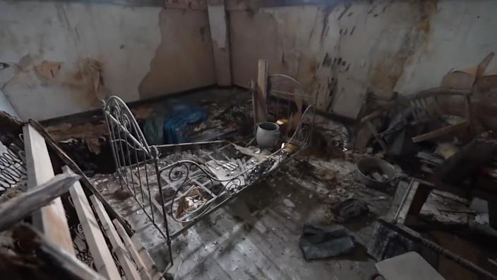 """""""It's crazy someone had to live in this dangerous place and it's a shame such a nice building has degraded so badly while it's in the middle of a village."""" (Photo: Bob Thissen/Caters News)"""