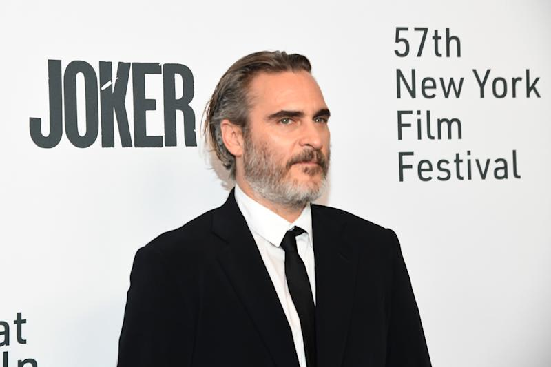 Joaquin Phoenix attends the 57th New York Film Festival on October 02, 2019. (Photo by Kevin Mazur/WireImage)