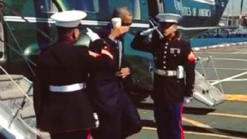 President Obama Gesture to Marines Dubbed 'Latte Salute'