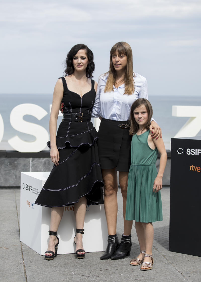 Eva Green, Alice Winocour, Zelie Boulant-Lemesle attend the 'Proxima' Photocall during the 67th San Sebastian Film Festival in the northern Spanish Basque city of San Sebastian on September 21, 2019. (Photo by COOLMedia/NurPhoto via Getty Images)