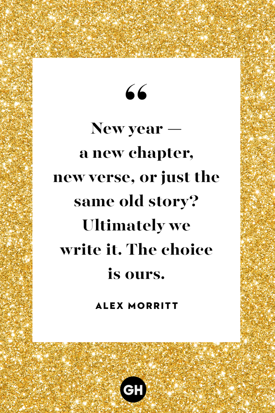 <p>New year — a new chapter, new verse, or just the same old story? Ultimately we write it. The choice is ours.</p>