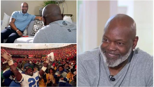 Emmitt Smith goes 1-on-1 with Walter Payton's son to discuss first Super Bowl, all-time rushing record