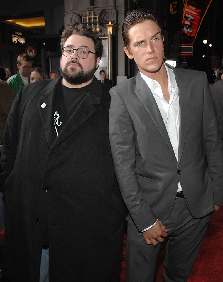 "<a href=""http://movies.yahoo.com/movie/contributor/1800020930"">Kevin Smith</a> and <a href=""http://movies.yahoo.com/movie/contributor/1800021321"">Jason Mewes</a> at the Los Angeles premiere of <a href=""http://movies.yahoo.com/movie/1809958867/info"">Zack and Miri Make a Porno</a> - 10/20/2008"