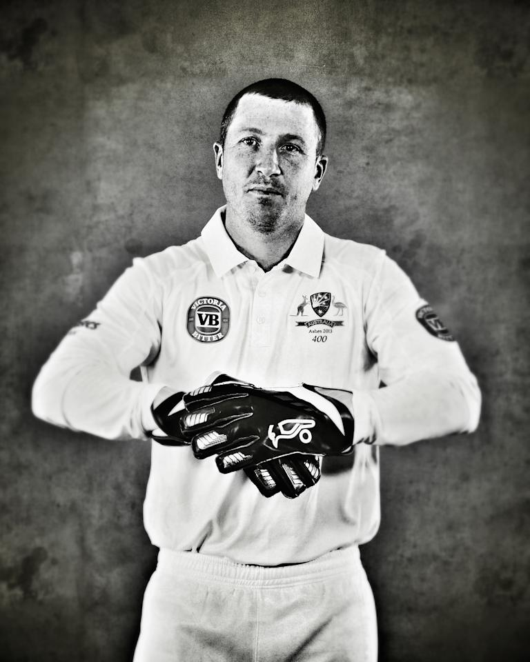 WORCESTER, ENGLAND - JULY 01:  (EDITORS NOTE: This image was processed using digital filters) Brad Haddin of Australia poses on July 1, 2013 in Worcester, England.  (Photo by Ryan Pierse/Getty Images)