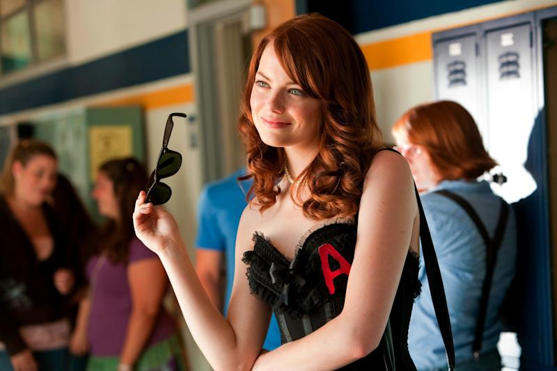 Emma Stone as Olive Penderghast in 'Easy A' (Rex Features)