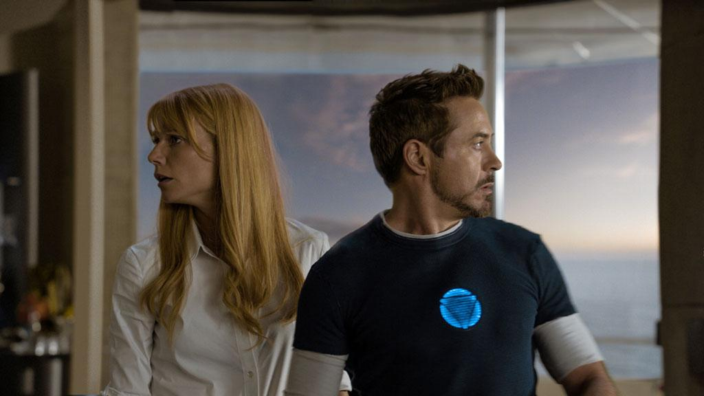 "Gywneth Paltrow and Robert Downey Jr. in Marvel Studios' ""Iron Man 3"" - 2013"