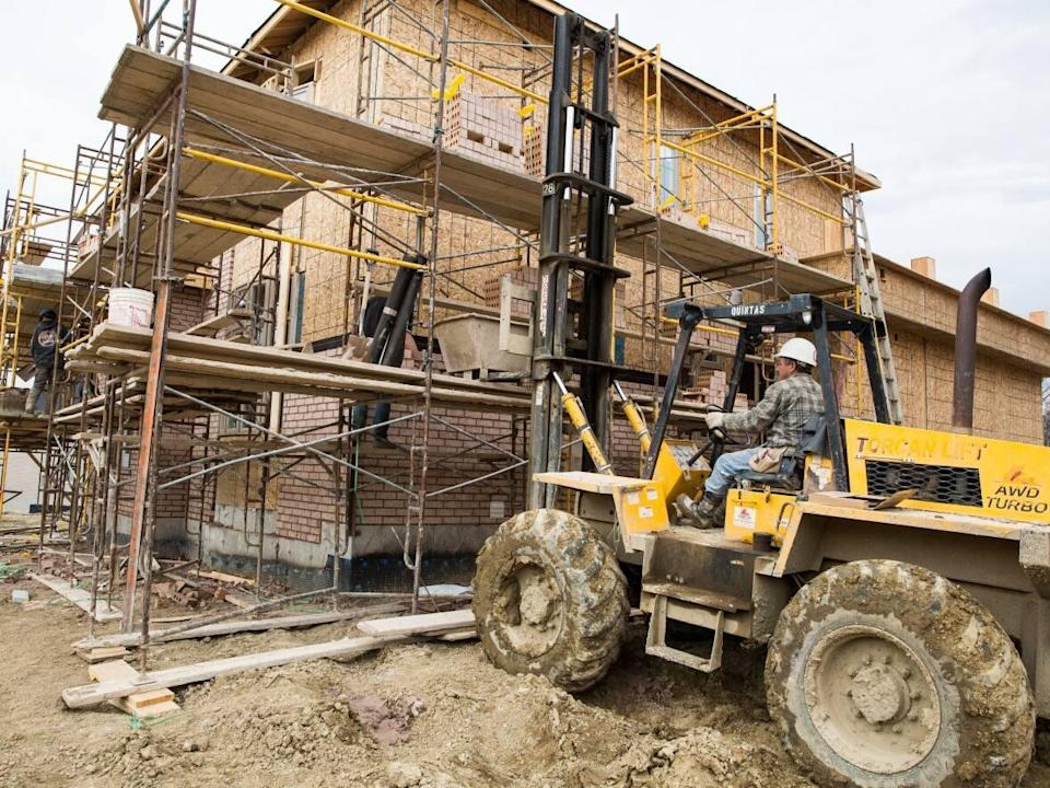 These single family homes being constructed in Vaughan, Ont., will help address the supply gap, but high-density, more affordable units are actually what's needed more, researchers say. (David Donnelly/CBC - image credit)