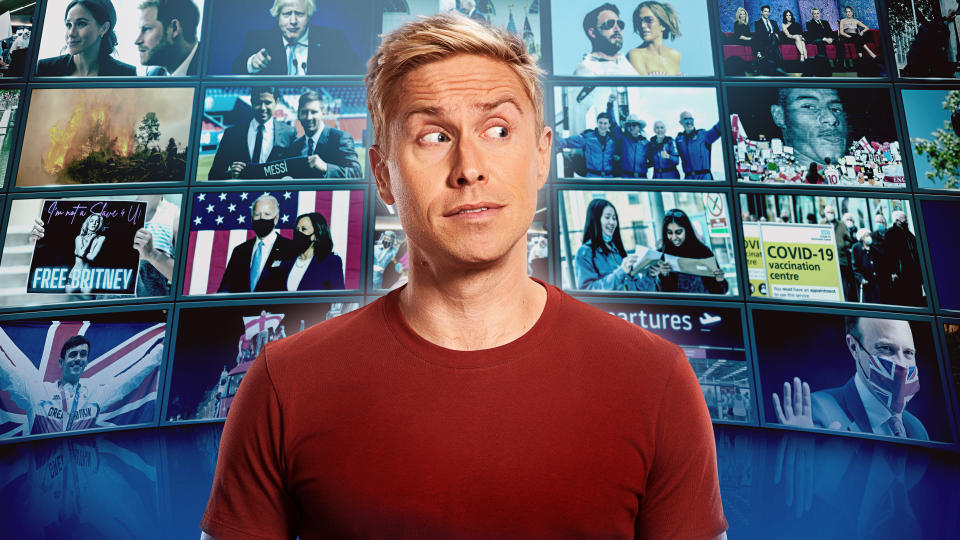 Russell Howard returns to front his current affairs show for its fifth series. (Sky)