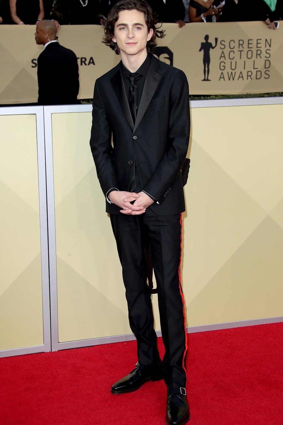 "<h2>CALVIN KLEIN 205W39NYC</h2>We miss this line almost as much as we miss this look on Timothée Chalamet . <span class=""copyright"">Photo: Dan MacMedan/Getty Images.</span>"