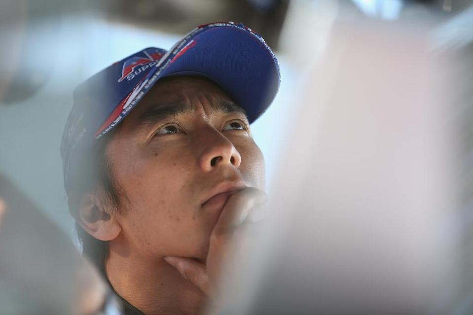 Takuma Sato of Japan, pictured at Sonoma Raceway in California, in August 2014 (AFP Photo/Todd Warshaw)