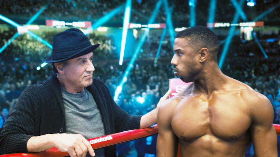 Sylvester Stallone as Rocky Balboa and Michael B. Jordan as Adonis Creed in 2018's 'Creed II.' It's recently been revealed that Stallone will not return for 'Creed III,' which Jordan is directing. (Photo: Metro Goldwyn Mayer Pictures / Warner Bros. Pictures)