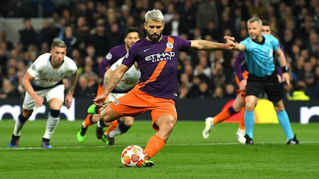 Sergio Aguero's penalty miss at Tottenham proved costly but Pep Guardiola hopes his striker retains the confidence to take the next one.