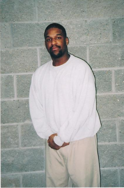 """Corey Johnson, a federal prisoner on death row, at the federal penitentiary in Terre Haute, Ind.<span class=""""copyright"""">Courtesy attorneys for Corey Johnson</span>"""