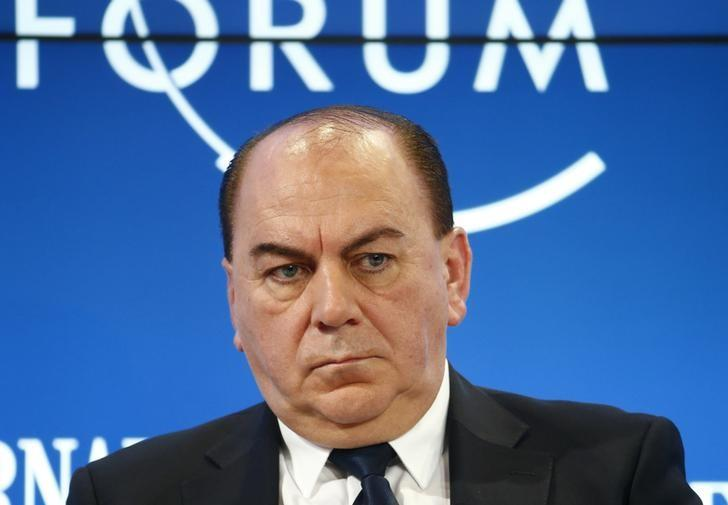 Weber Chairman of the Board of Directors of UBS bank attends the WEF annual meeting in Davos