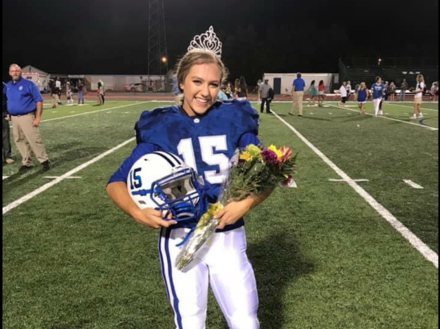 Kaylee Foster, homecoming queen and football hero. (Via OSSD Pride Alert Facebook page)