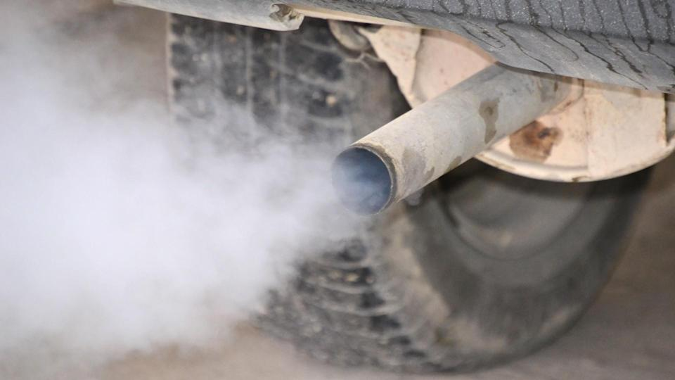 white smoke coming out of truck exhaust