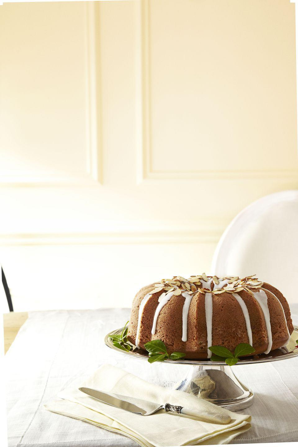 "<p>Cranberries, lemon zest and warm cinnamon infuse this cake with wonderful fall flavors. </p><p><a href=""https://www.goodhousekeeping.com/food-recipes/a13774/cranberry-cake-almond-glaze-recipe-ghk1112/"" rel=""nofollow noopener"" target=""_blank"" data-ylk=""slk:Get the recipe for Cranberry Cake with Almond Glaze »"" class=""link rapid-noclick-resp""><em>Get the recipe for Cranberry Cake with Almond Glaze »</em></a></p>"