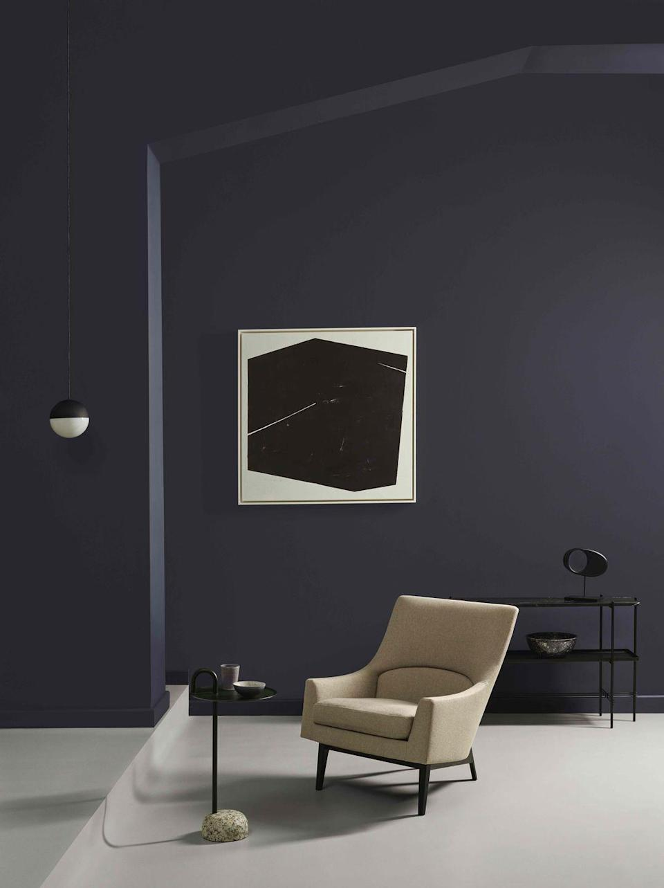 "<p>The dramatic shade of '<a href=""https://www.crownpaints.co.uk/products/elle-decoration-by-crown/obsidian---flat-matt/black-glass-no.-194/18061"" rel=""nofollow noopener"" target=""_blank"" data-ylk=""slk:Black Glass"" class=""link rapid-noclick-resp"">Black Glass</a>' paint makes a memorable design statement for guests that can set the tone for the rest of a home. For a truly lasting impression, also consider this same colour for your hallway and entrance.</p><p><strong>Like this article? </strong><u><a href=""https://hearst.emsecure.net/optiext/optiextension.dll?ID=LKHLy4U%2BAPDM5JcrmOKxtYntAlN0FMNelBSKJmXANeFj7b3wVEXa8UQNxN3Kk5RyF_0Q89Kyk6%2BjLh"" rel=""nofollow noopener"" target=""_blank"" data-ylk=""slk:Sign up to our newsletter"" class=""link rapid-noclick-resp"">Sign up to our newsletter</a></u> to get more articles like this delivered straight to your inbox.</p><p><a class=""link rapid-noclick-resp"" href=""https://hearst.emsecure.net/optiext/optiextension.dll?ID=LKHLy4U%2BAPDM5JcrmOKxtYntAlN0FMNelBSKJmXANeFj7b3wVEXa8UQNxN3Kk5RyF_0Q89Kyk6%2BjLh"" rel=""nofollow noopener"" target=""_blank"" data-ylk=""slk:SIGN UP""><strong><strong><strong>SIGN UP</strong></strong></strong></a></p><p><strong>Keep your spirits up </strong>and <a href=""https://www.hearstmagazines.co.uk/elle-decoration-magazine-subscription-website?utm_source=elledecoration.co.uk&utm_medium=referral&utm_content=stayathome"" rel=""nofollow noopener"" target=""_blank"" data-ylk=""slk:subscribe to ELLE Decoration here"" class=""link rapid-noclick-resp"">subscribe to ELLE Decoration here</a>, so our magazine is delivered direct to your door.</p>"
