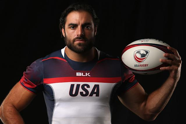 Nate Ebner grew up playing rugby thanks to his father. (Getty Images)