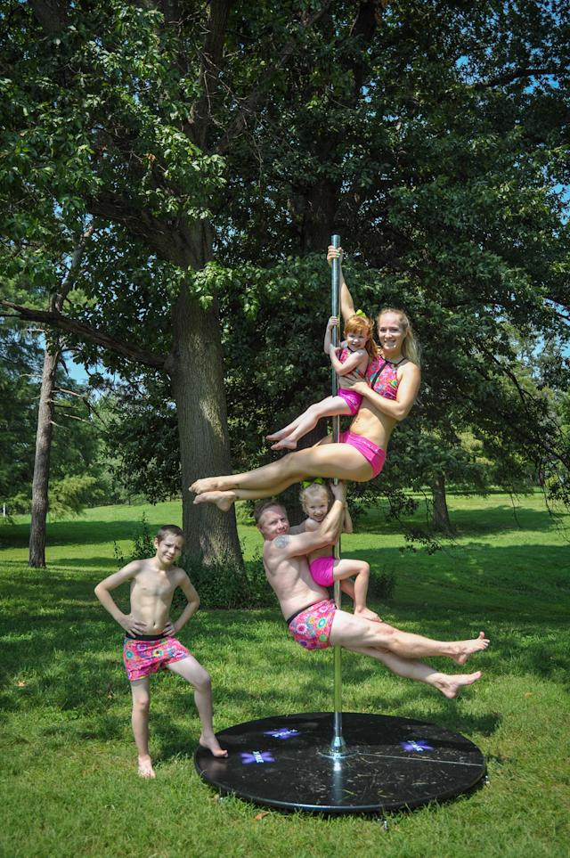 Meet the couple who pole dance with their three children