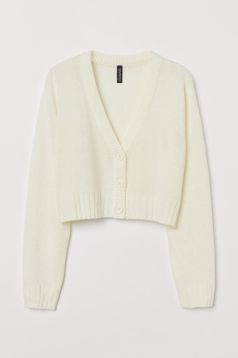 <p>This white <span>H&amp;M Short Cardigan</span> ($18) is perfect for summer. We like it with a white t-shirt or dress.</p>