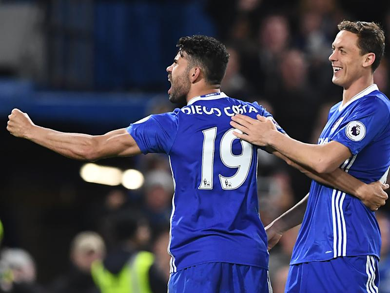 Diego Costa scored twice in the second half to secure all three points for the hosts: Getty