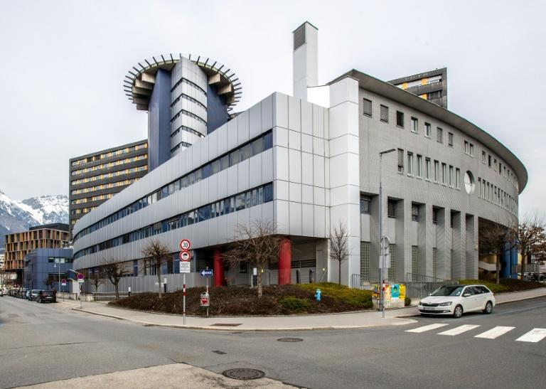A couple has been quarantined in the Innsbruck Hospital, pictured on February 25