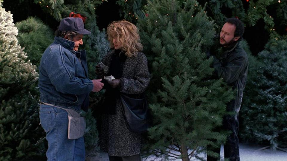 <p> Maybe this one&#x2019;s more of a New Year&#x2019;s Eve movie than a Christmas movie, but there&#x2019;s never a bad time to watch When Harry Met Sally &#x2013; it&#x2019;s the definition of a comfort watch. The classic Nora Ephron-scripted romcom stars Billy Crystal and Meg Ryan as the title characters, two will-they-won&#x2019;t-they friends who&#x2019;ve known each other since college. There&#x2019;s snow-covered Central Park, the city decked out with lights, and the scene where Harry helps Sally carry a Christmas tree back to her apartment. Plus, it ends with the most iconic New Year&#x2019;s Eve party in romcom history. </p>